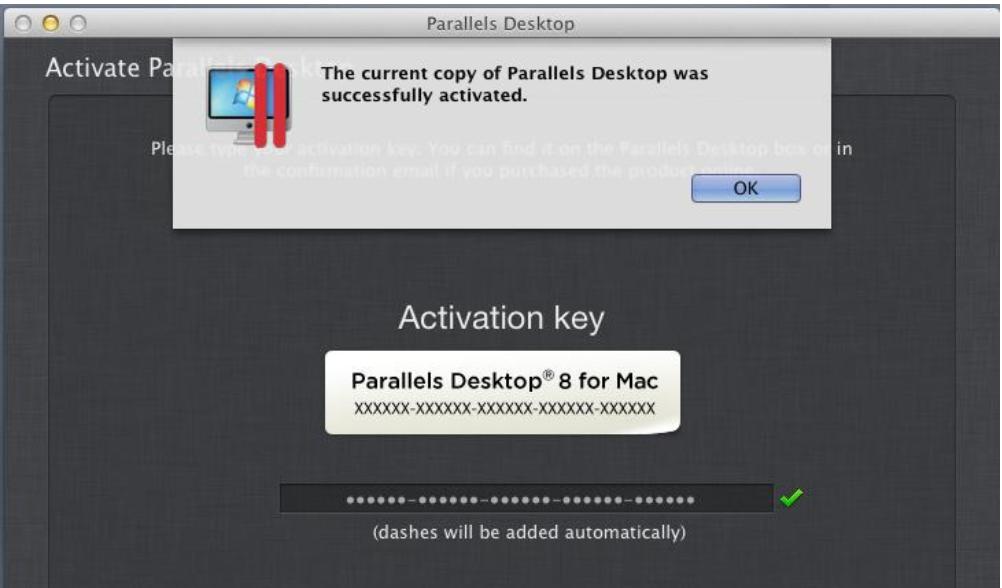 Ключ активации parallels desktop
