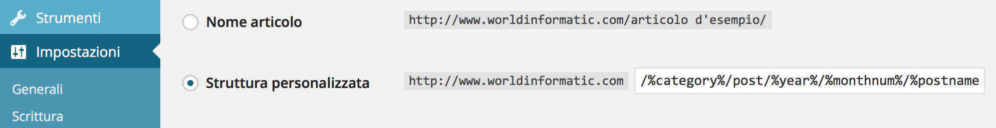 Permalink_Wordpress_personalizzati_Weebly