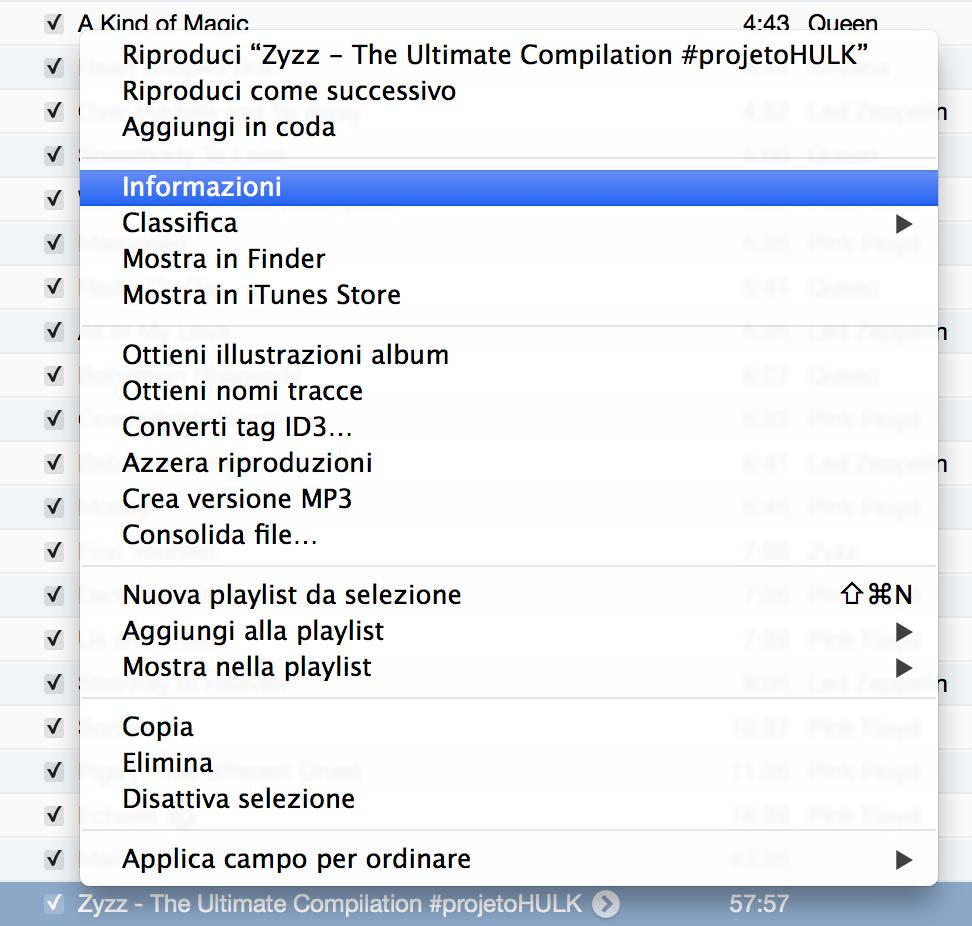 Ecco come tagliare:suddividere canzoni con iTunes (Mac o Windows)
