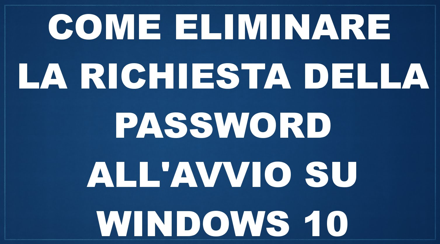 Password di login windows 10